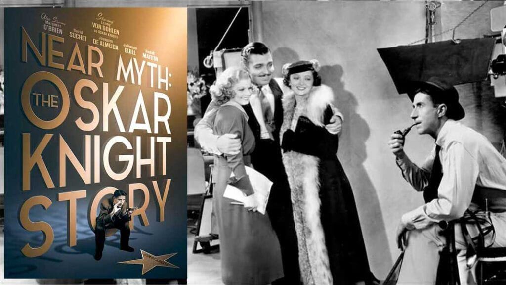 Poster and image from the movie Near Myth: The Oskar Knight Story